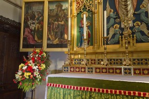 St Mary's Altar With Flowers
