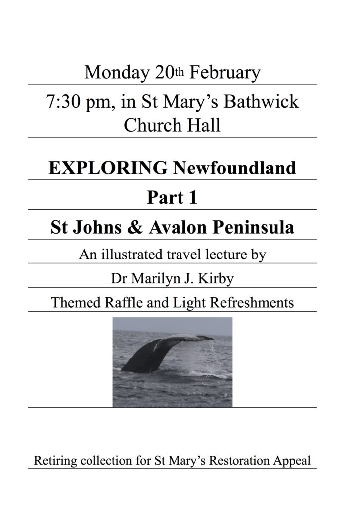 Advert Exploring Newfoundland 20 Feb 17
