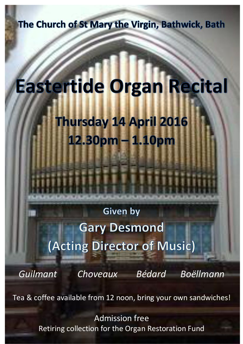 Eastertide Organ Recital
